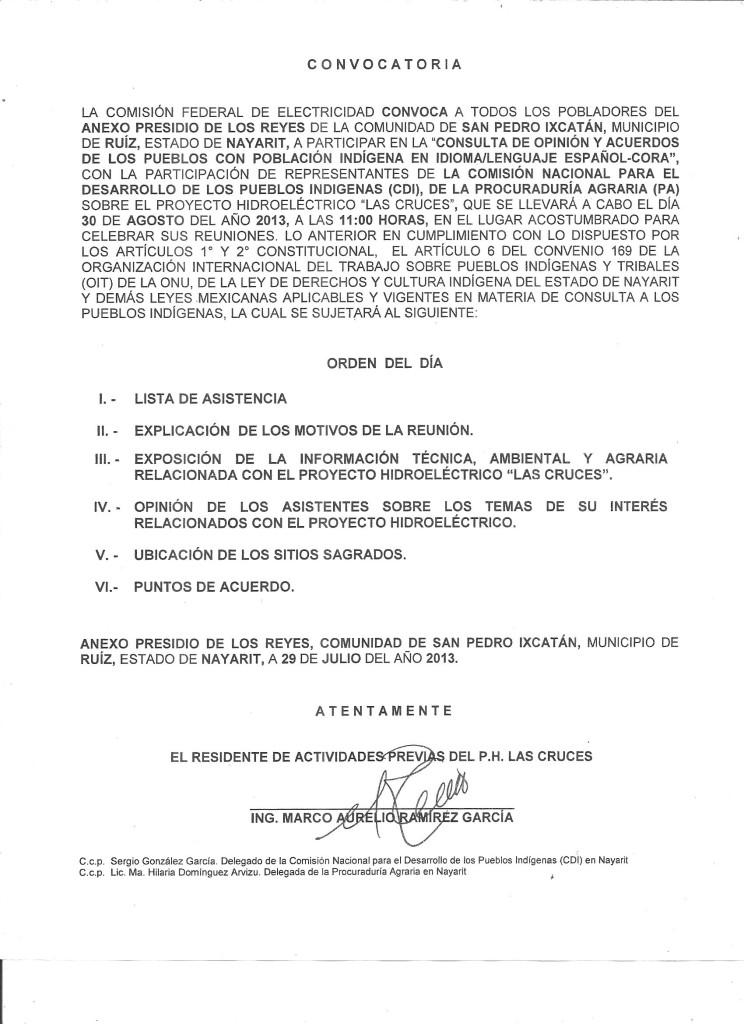 CONVOCATORIA CONSULTA PUBLICA 001