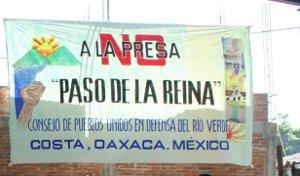 El gobierno mexicano tiene planes de construir una mega-represa en el Río Verde, en Oaxaca, México. La pared sumergiría toda la comunidad de Paso de la Reina, un pueblo de […]